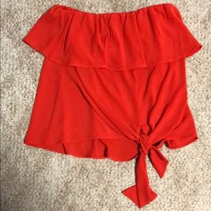 Nwot Vici red flowy tank top strapless small
